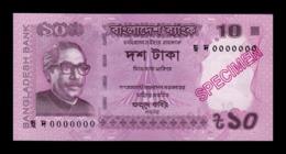 Bangladesh 10 Taka 2018 Pick 54 New Specimen SC UNC - Bangladesh
