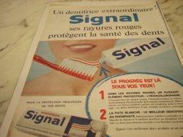 ANCIENNE  PUBLICITE EXTRAORDINAIRE DENTIFRICE SIGNAL 1961 - Sin Clasificación