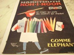 ANCIENNE PUBLICITE CRAYON PARFAIT KOH-I-NOOR 1961 - Other Collections