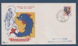 France FDC - Premier Jour - Dauphine - Isère - 1953 - FDC