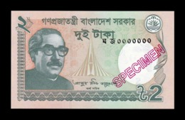 Bangladesh 2 Taka 2018 Pick 52 New Specimen SC UNC - Bangladesch