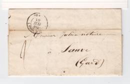 Sur LAC D'Oran Pour Sauve Gard CAD Oran Possession D'Afrique Mai 1849. CAD Type 15 Marseille. Taxe à La Plume. (3293) - 1801-1848: Precursors XIX