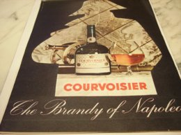 ANCIENNE  PUBLICITE COGNAC COURVOISIER THE BRANDY OF NAPOLEON 1961 - Alcohols