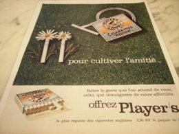 ANCIENNE PUBLICITE   CUTIVER L AMITIE CIGARETTE  MEDIUM PLAYER S 1961 - Raucherutensilien (ausser Tabak)