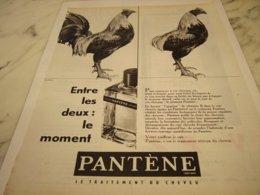 ANCIENNE PUBLICITE CHEVEUX SOIGNES PANTENE 1961 - Perfume & Beauty