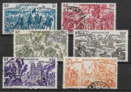 MADAGASCAR : POSTE AERIENNE SERIE TCHAD AU RHIN N° 66/71 OBLITERATIONS CHOISIES - Madagascar (1889-1960)