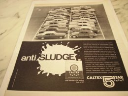 ANCIENNE  PUBLICITE HUILE CALTEX 5 STAR 1961 - Other
