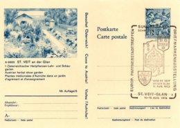 X108  Autriche - Europ. Partnerstädtetreffen  - 1973 - St. Veit-Glan - 11-19/8/1973  TTB - Europäischer Gedanke