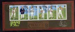 ALDERNEY 1997 CRICKET CLUB BLOCK SHEET BLOCCO FOGLIETTO FIRST DAY SPECIAL CANCEL FDC - Alderney
