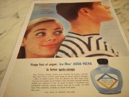 ANCIENNE AFFICHE PUBLICITE  APRES RASAGE AQUA VELVA 1961 - Perfume & Beauty