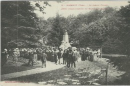 Tarn : Mazamet, Le Jardin Public Après L'Inauguration Du Monument Barbey - Mazamet