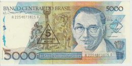 Brasil 5 Cruzados On 5000 Cruzados 1989 Pick 217a UNC - Brazilië