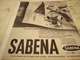 ANCIENNE PUBLICITE VACANCE  SABENA  1961 - Advertisements