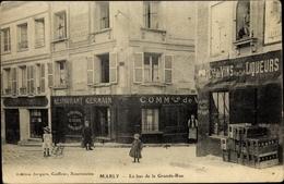 Cp Marly Le Roi Yvelines, Le Bas De La Grande Rue, Commerces - Francia
