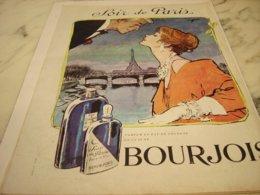ANCIENNE PUBLICITE PARFUM SOIR DE PARIS  DE  BOURJOIS 1961 - Perfume & Beauty
