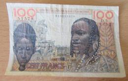 Afrique Occidentale Française - Billet 100 Francs AOF Et TOGO 23-10-1956 - Alphabet D.5 / 010351578 - TTB - Togo