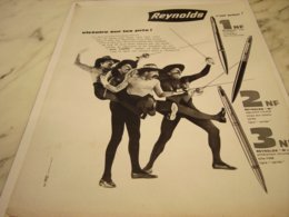 ANCIENNE PUBLICITE STYLO REYNOLDS 1961 - Other Collections