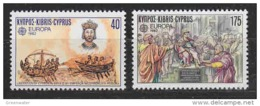 Europa Cept 1982 Cyprus 2v ** Mnh (44915K) ROCK BOTTOM PRICE - Europa-CEPT