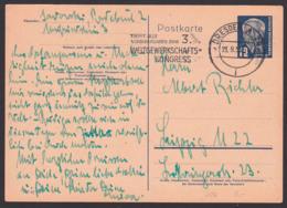 "Gewerkschaft DDR 12 Pfg. GA MWSt. ""Trefft Alle Vorbereitungen Zum 3. Weltgewerkschafts-Kongress"" 21.9.53, W. Pieck - [6] Democratic Republic"