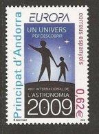 """ANDORRA ESPAÑOLA- EUROPA 2009 - """"ASTRONOMIA"""" -   SERIE De 1 V. - Europa-CEPT"""