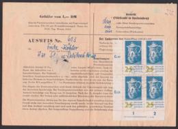 DDR-Sammlerausweis 25 Pf.(4) Zwiebelmuster Meissen Porzellan, DDR 778 Mit DV, Rs. DRESDEN A 21 - [6] Repubblica Democratica