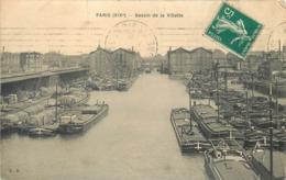 PARIS - Bassin De La Villette, Péniches. - District 19