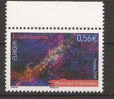 """ANDORRA FRANCESA - EUROPA 2009 - TEMA """"ASTRONOMIA"""" - SERIE De 1 V..DENTADO (PERFORATED) - Europa-CEPT"""