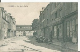 CPA - Manche - 50 - Périers - Rue De La Halle - Vieille Auto - Devanture - Animée - France