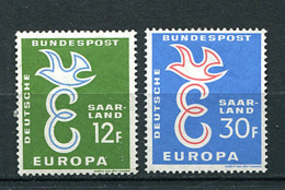 Sarre * N° 421/422- Europa 58 - 1958