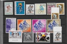 Thème Sports - Cyclisme - Ensemble De Timbres - Neuf ** - Wielrennen