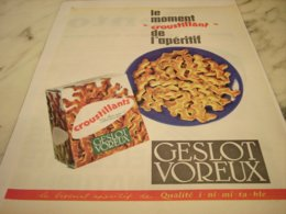 ANCIENNE PUBLICITE  POUR APERITIF GESLOT VOREUX 1961 - Posters