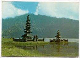 Beautiful Yellow Temple, Bedugul, Indonesia, 1973 Used Postcard [23577] - Indonesia