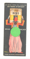 """Marque-pages Publicitaire - Cigarettes Tabac D'Orient """" NAJA """" + Allumette Bois , Cigarette,... (b260/3 ) - Bladwijzers"""