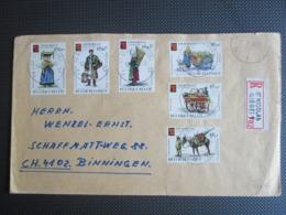 1789/94 - Themabelga - Reeks Op Aangetekende Brief Uit St Nicolas(Liège) Naar Binningen Zwitserland - Belgique