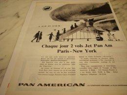 ANCIENNE PUBLICITE PARIS NEW YORK PAN AMERICAN 1961 - Advertisements