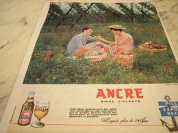 ANCIENNE PUBLICITE ANCRE PILS BIERE D ALSACE 1961 - Alcohols