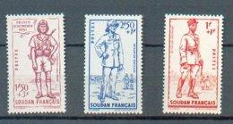 SOU 199 - YT  122 à 124 ** - Soudan (1894-1902)