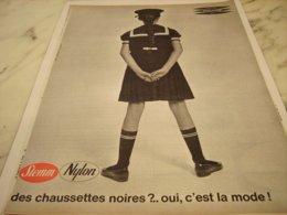 ANCIENNE PUBLICITE DES CHAUSSETTES NOIRES  DE STEMM  1961 - Unclassified