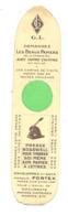 """Marque-pages Publicitaire - Les Beaux Papiers à Lettres""""  G.L. """" Presse """"Bosswell""""  - Enveloppes """" Fortex """" (b260/3 ) - Marque-Pages"""