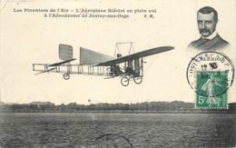 LES PIONNIERS DE L'AIR - L'aéroplane Blériot En Plein Vol, à L'aérodrome De Juvisy Sur Orge. - Aeródromos