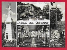 CARTOLINA VG ITALIA - Saluti Da CHIAMPO (VI) - Vedutine Multivue - 10 X 15 - 1963 - Saluti Da.../ Gruss Aus...