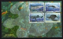 Thailand 2019 - FDC Preserved Wild Animals / WWF / Animal / Fauna / Whale / Turtle / Shark / Marine Life - Thailand
