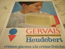 ANCIENNE PUBLICITE  GERVAIS ET HEUDEBERT   1961 - Posters
