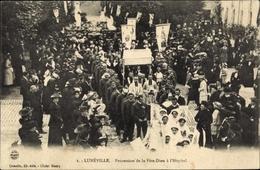 Cp Luneville Meurthe Et Moselle, Procession De La Fête Dieu à L'Hôpital - Francia