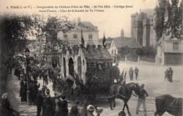 Thematiques 35 Ille Et Vilaine Vitré Inauguration Du Château Hôtel De Ville 18 Mai 1913 Cortège Fleuri Jeune France N° 1 - Vitre