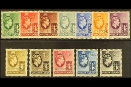 """1938  Geo VI Set Complete, Perforated """"Specimen"""", SG 110s/121s, Very Fine Mint, Part Og. (12 Stamps) For More Images, Pl - British Virgin Islands"""