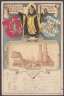 """PP 10 C 1/01 """"Bay. Verkehsbeamten-Verein"""", 1900 Gelaufen Als Fernkarte, Leider Rechts Kl. Riß - Bayern"""