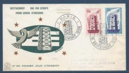 France FDC - Premier Jour - Europa - Paris - 1956 - FDC