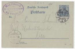 QS240  Deutsches Reich 2 Pfg Reichspost Ganzsache - Chemnitz - Deutschland