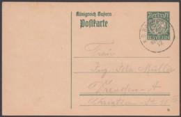 "P 98 I/01, Bahnpost ""Hof-Regensburg"", 1917, Bedarfskarte - Bayern"